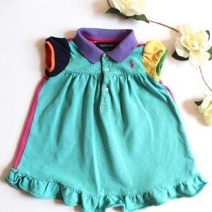 Ralph Lauren   Color Block Polo Dress 18M